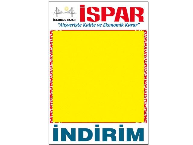 İspar Market Afiş Kağıdı