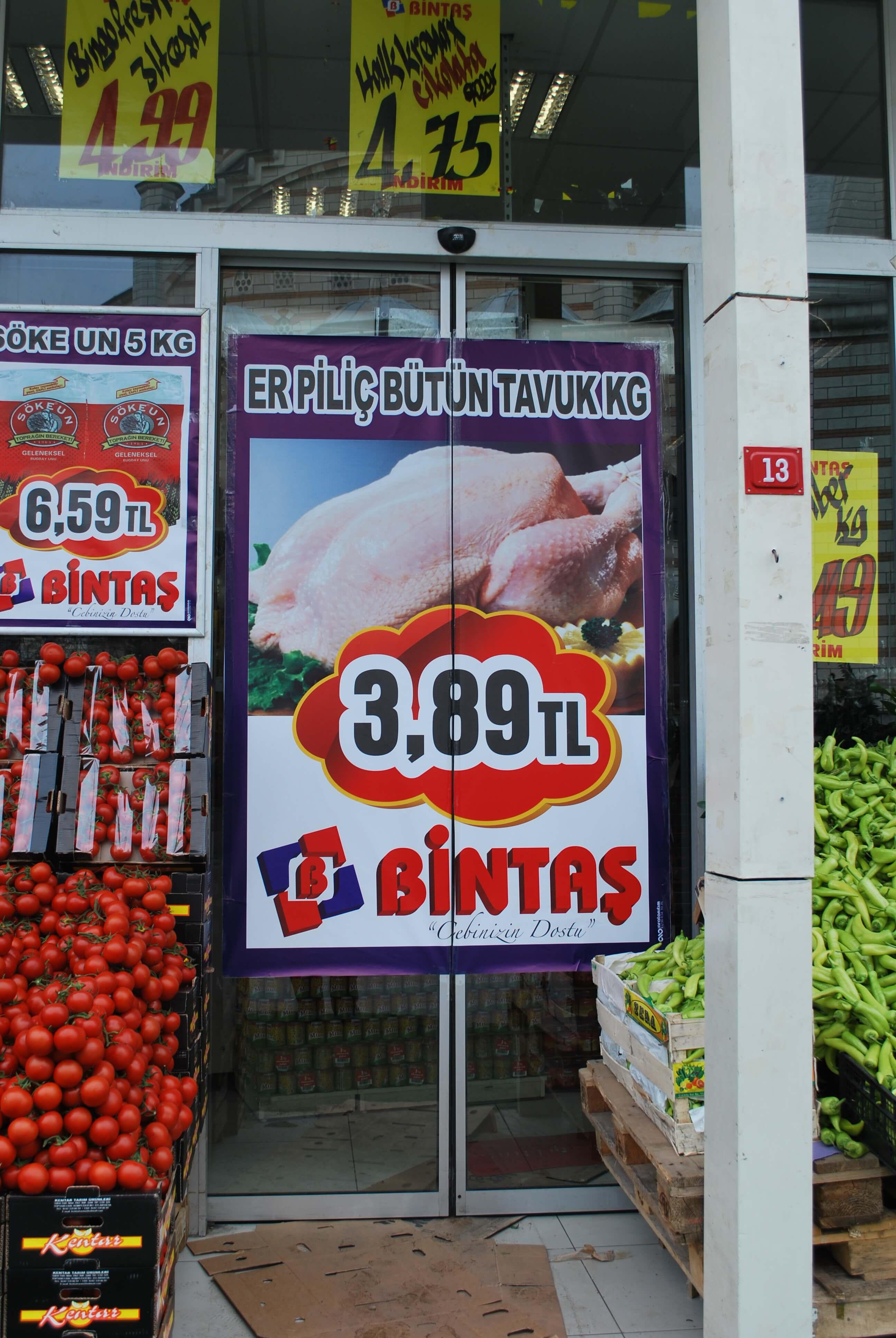 Bintaş market dijital baskı