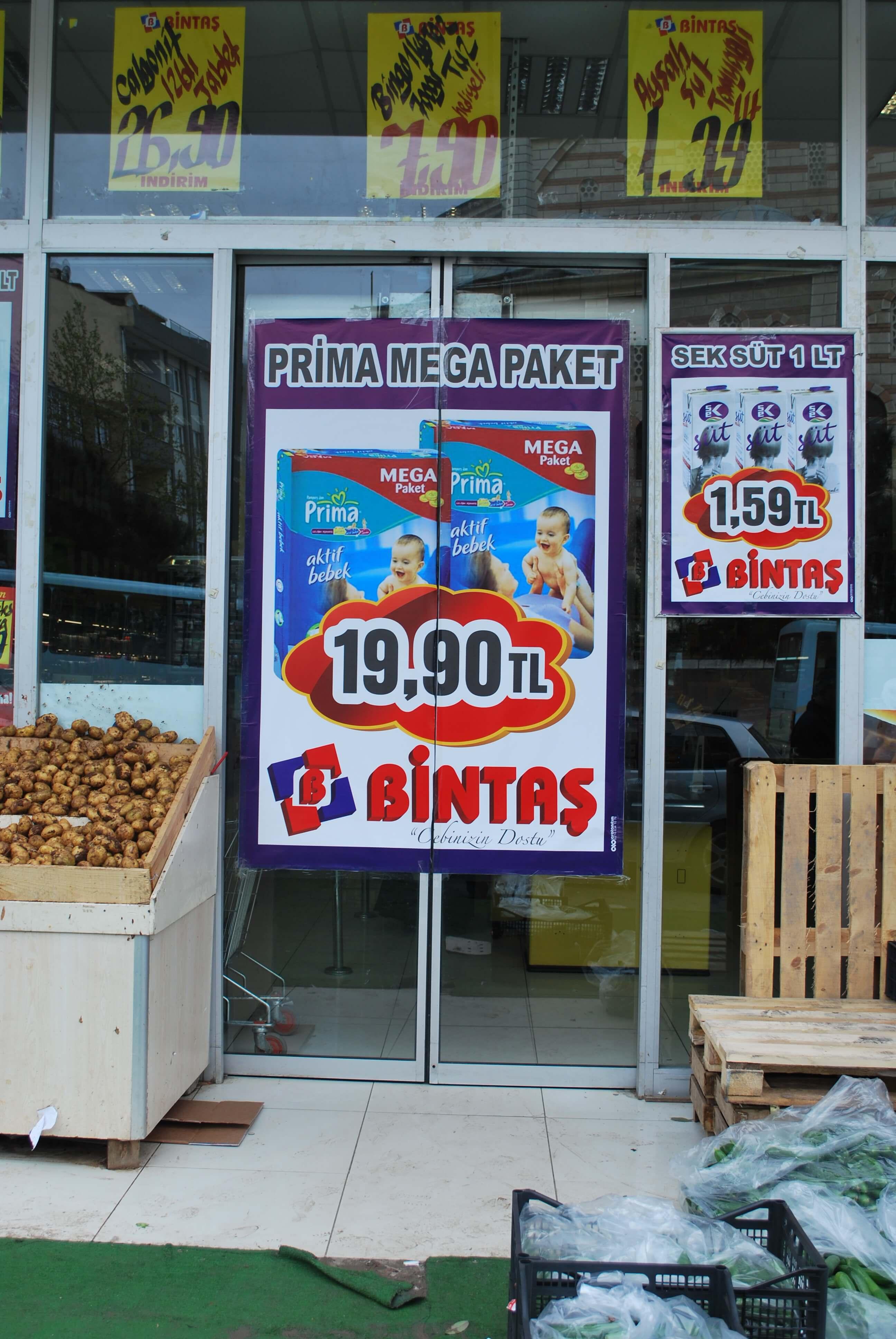 Dijital Baskı Bintaş Market 140x200